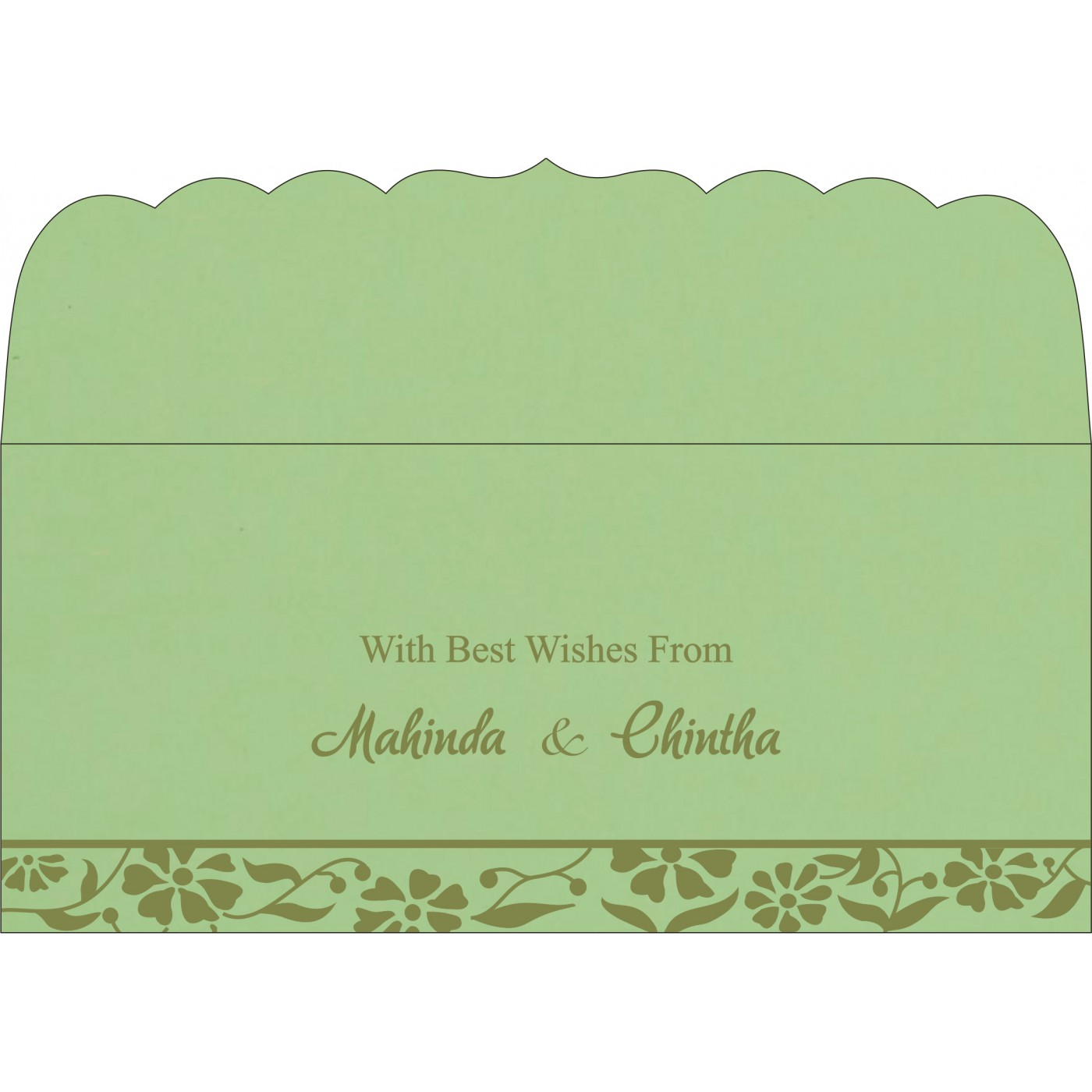 Money Envelopes : ME-8222G - 123WeddingCards