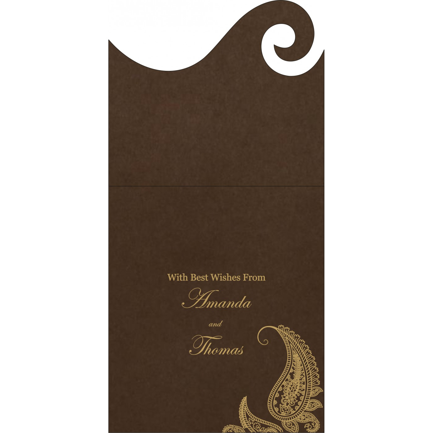 Money Envelopes : ME-8252F - 123WeddingCards
