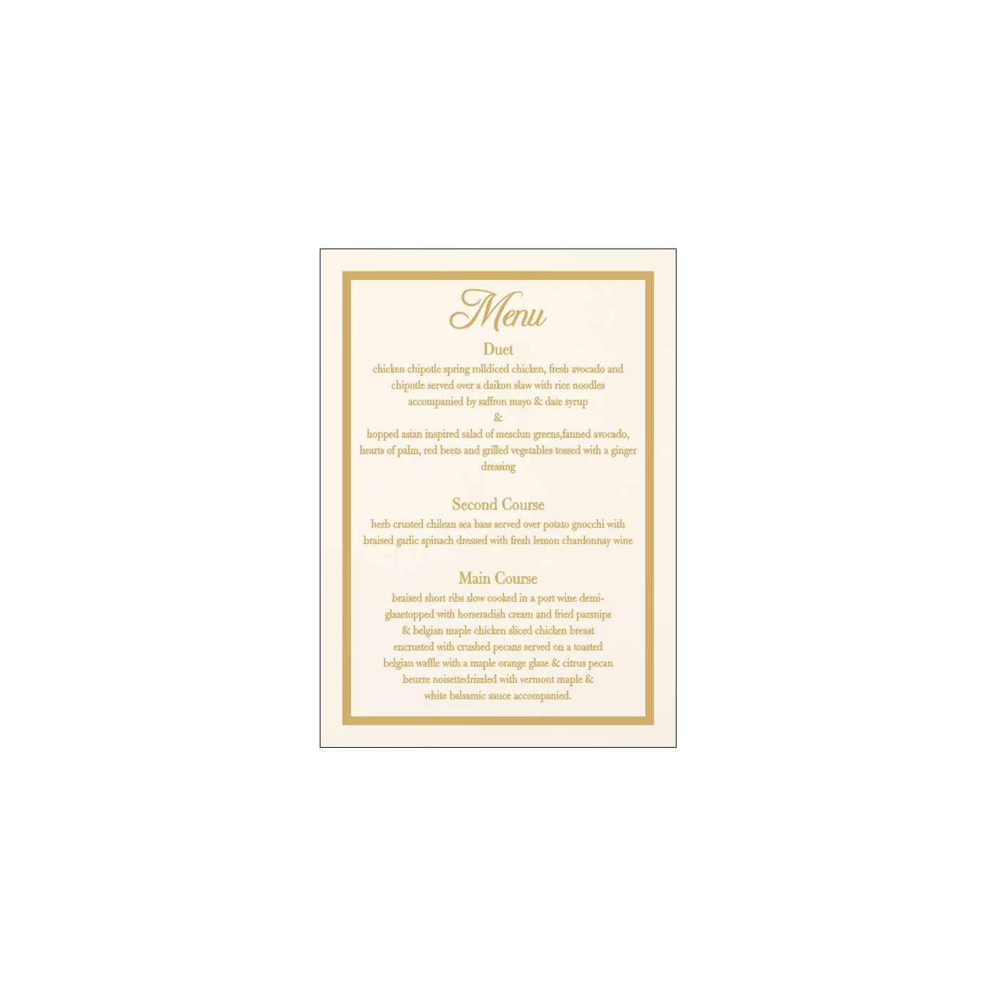 Menu Cards : MENU-1144 - 123WeddingCards