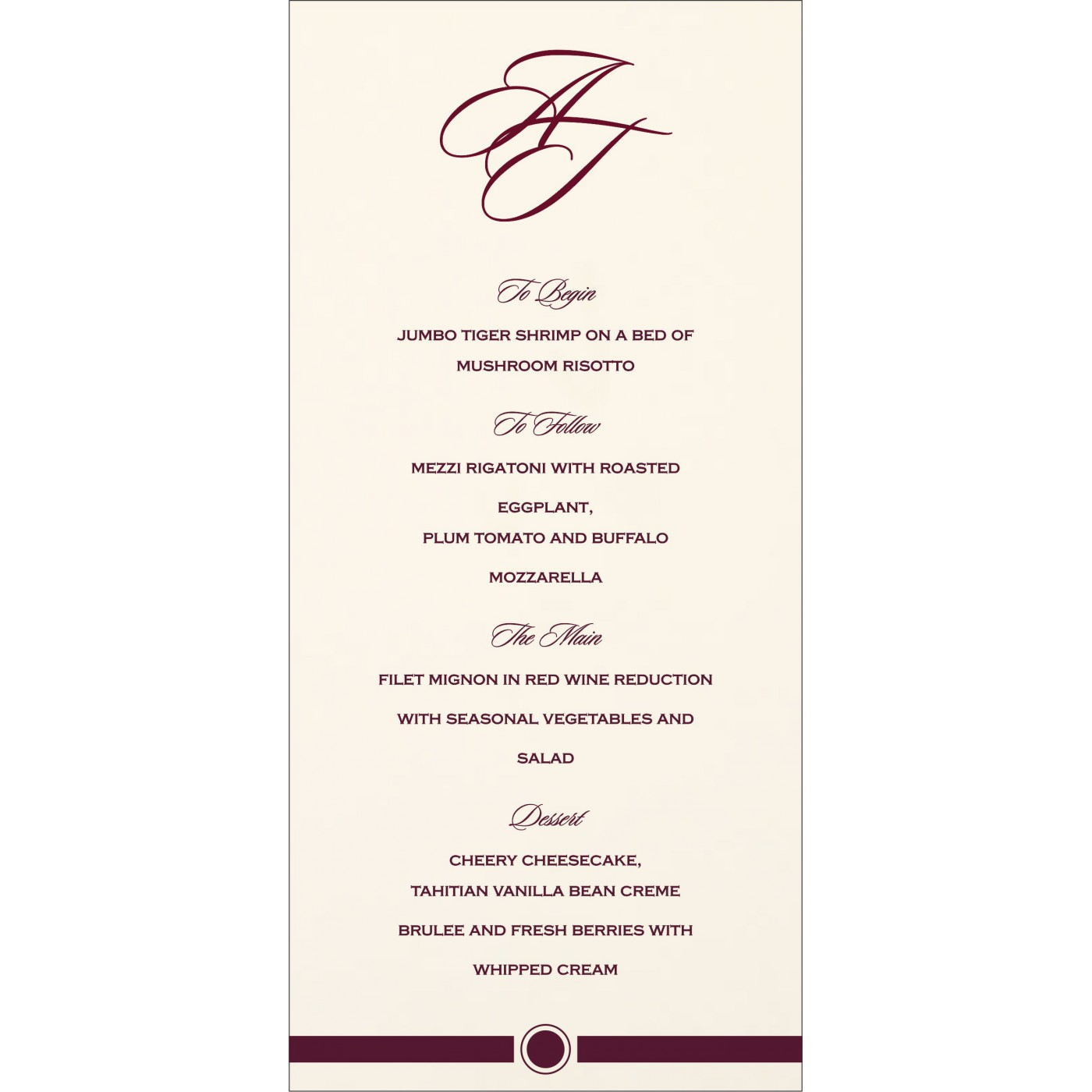 Menu Cards : MENU-1204 - 123WeddingCards
