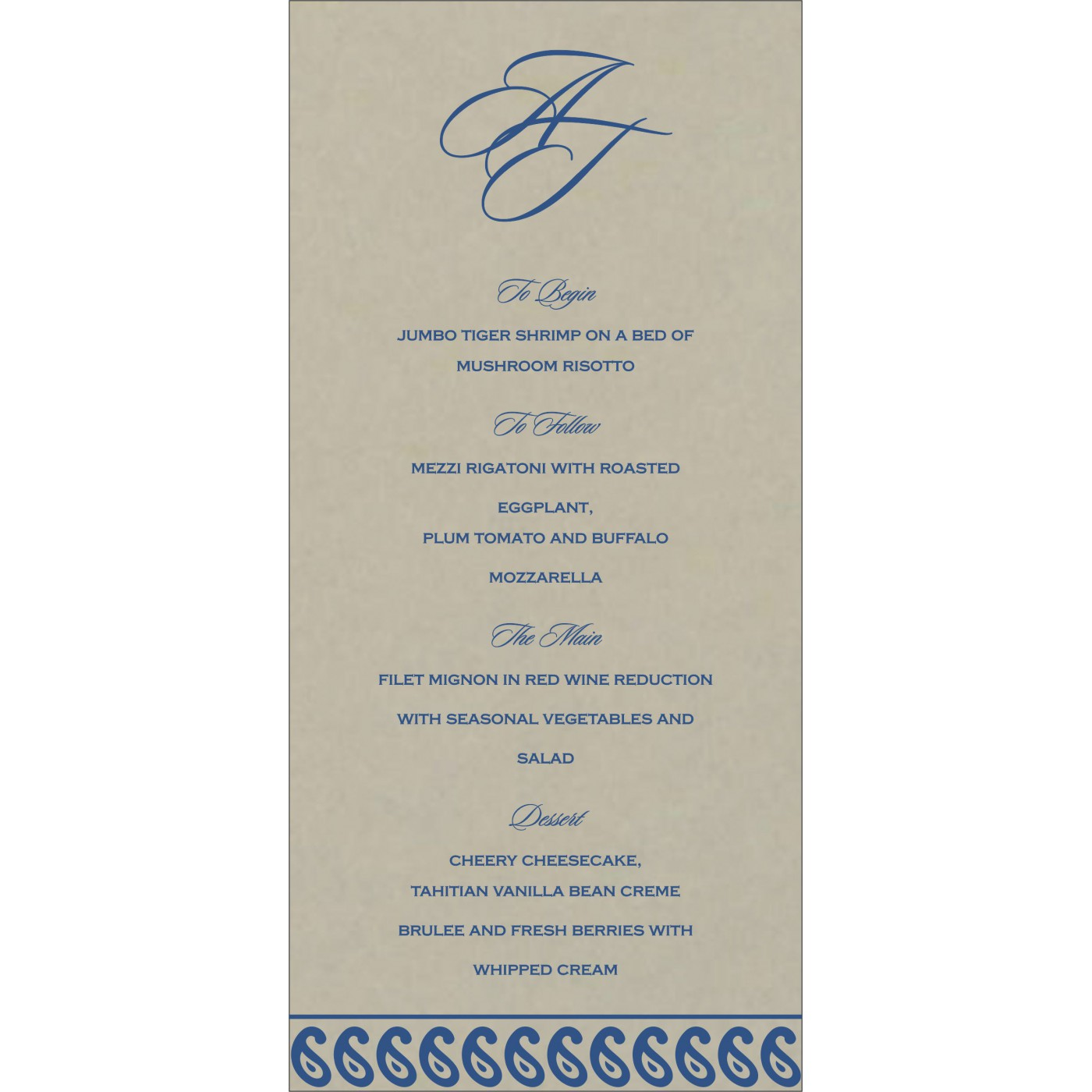 Menu Cards : MENU-1261 - 123WeddingCards