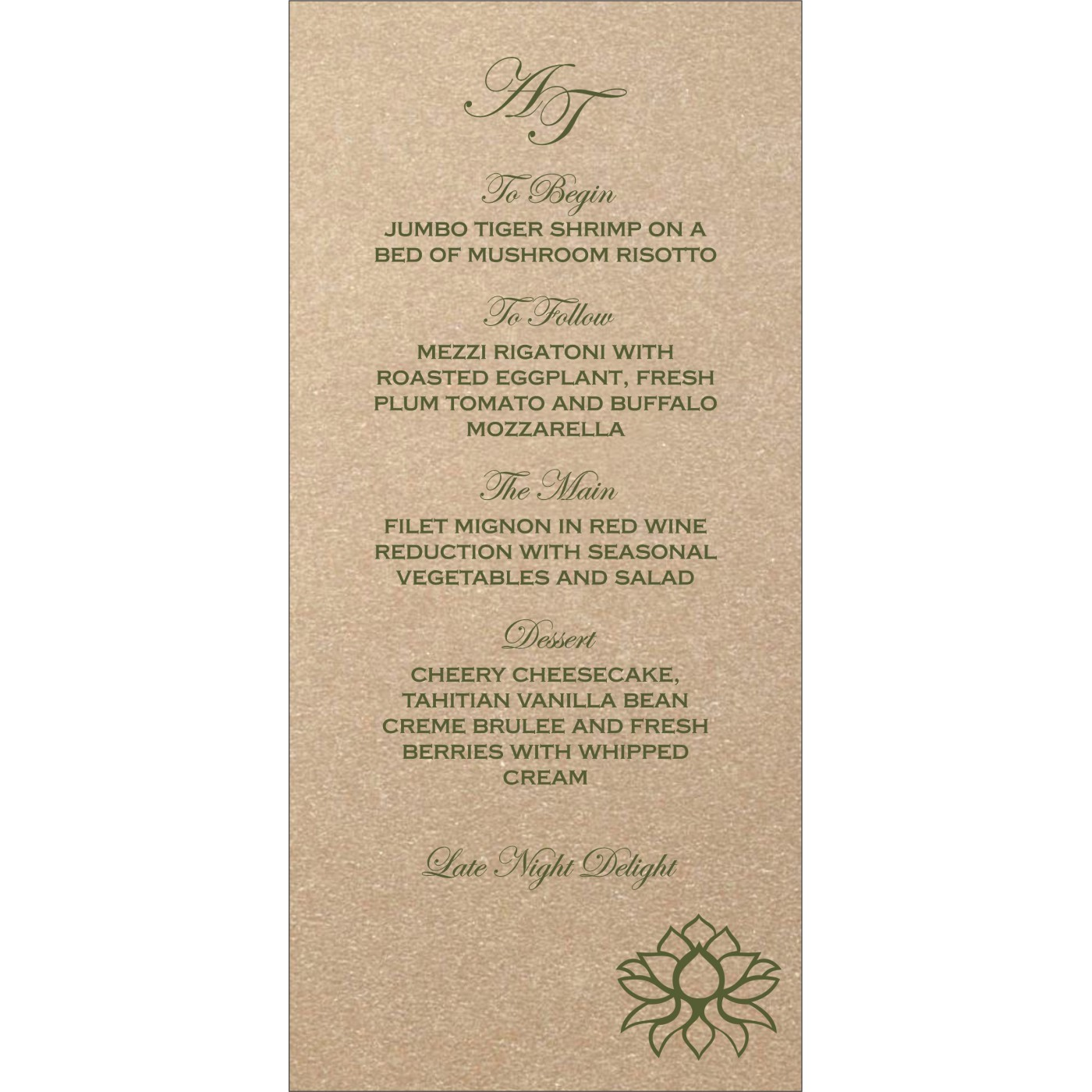 Menu Cards : MENU-1449 - 123WeddingCards
