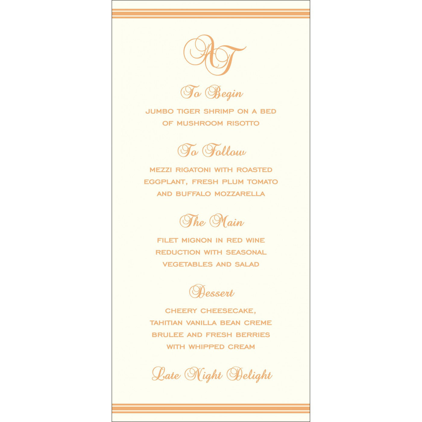 Menu Cards : MENU-2203 - 123WeddingCards