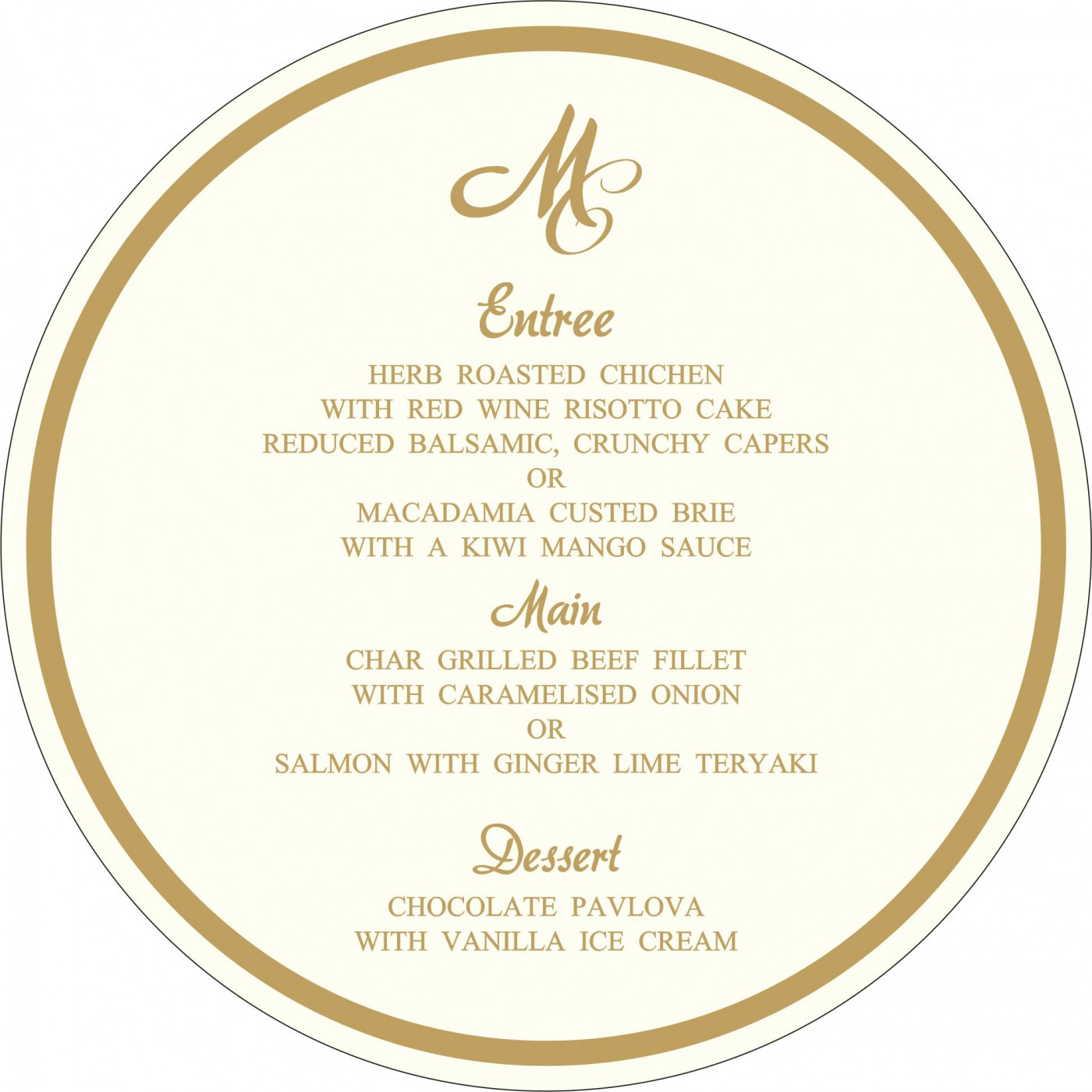 Menu Cards : MENU-2238 - 123WeddingCards