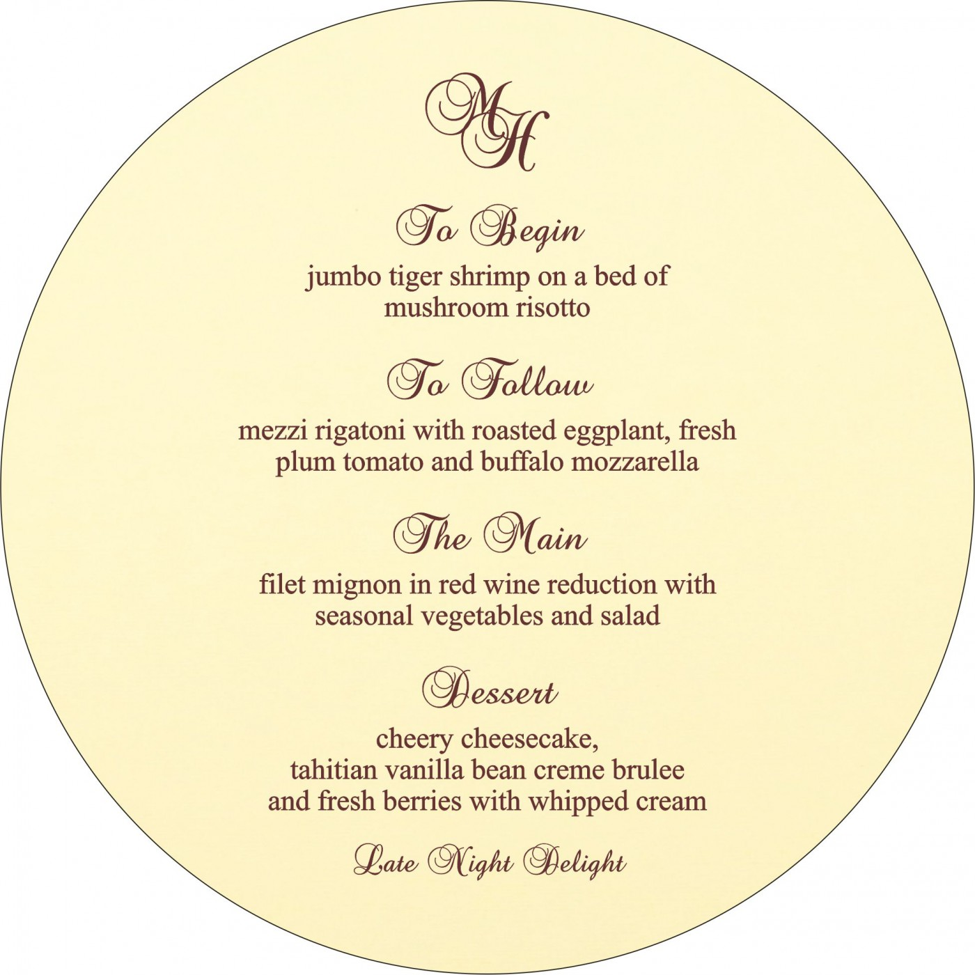 Menu Cards : MENU-2275 - 123WeddingCards