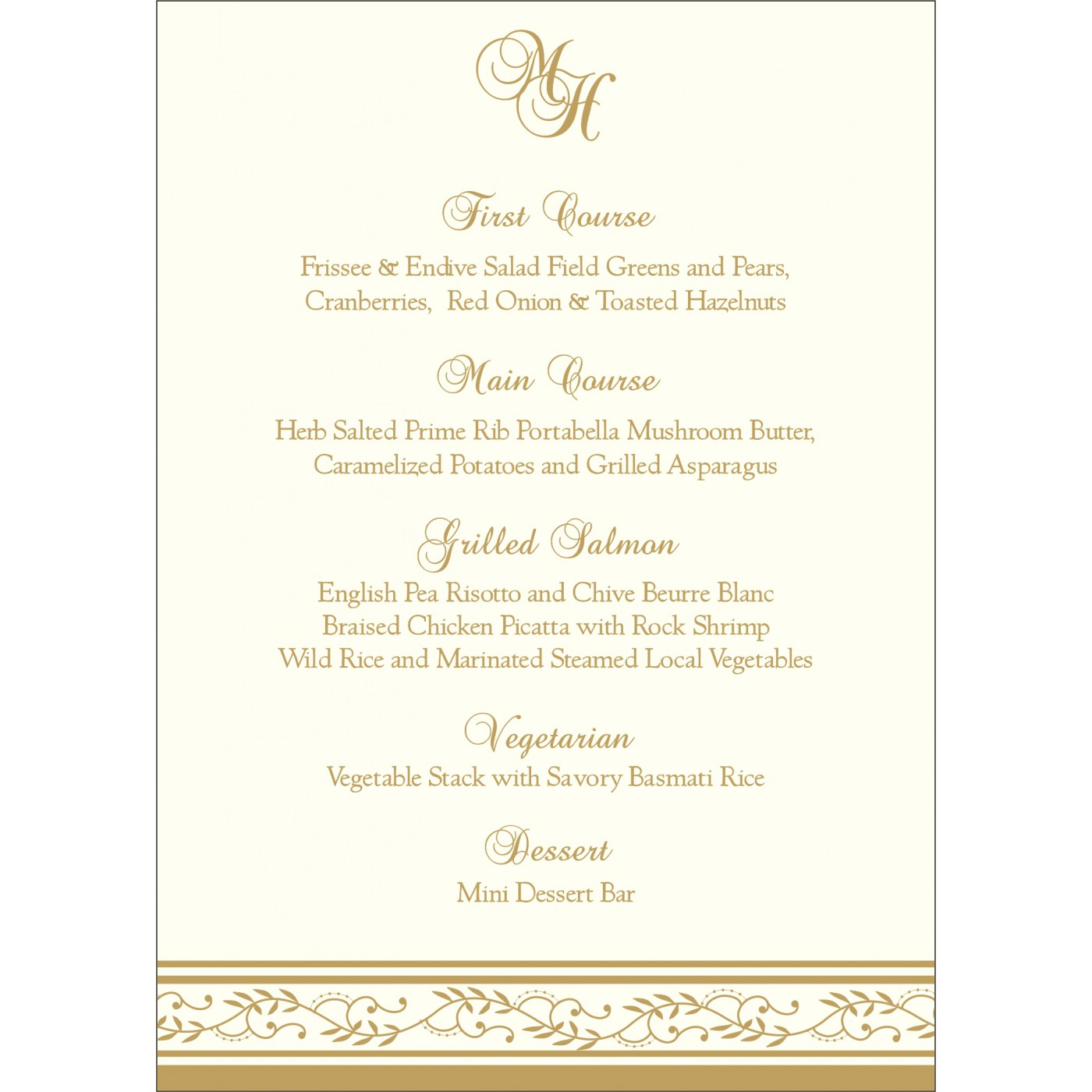 Menu Cards : MENU-8202D - 123WeddingCards