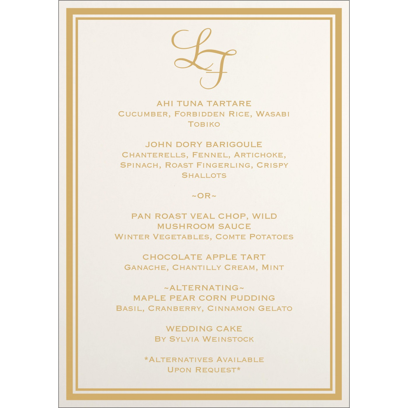 Menu Cards : MENU-8203A - 123WeddingCards