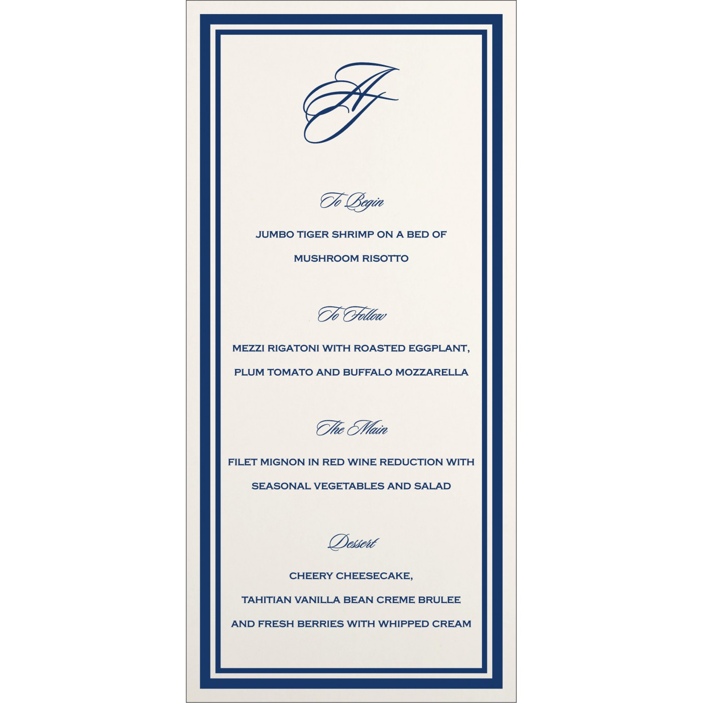 Menu Cards : MENU-8203B - 123WeddingCards