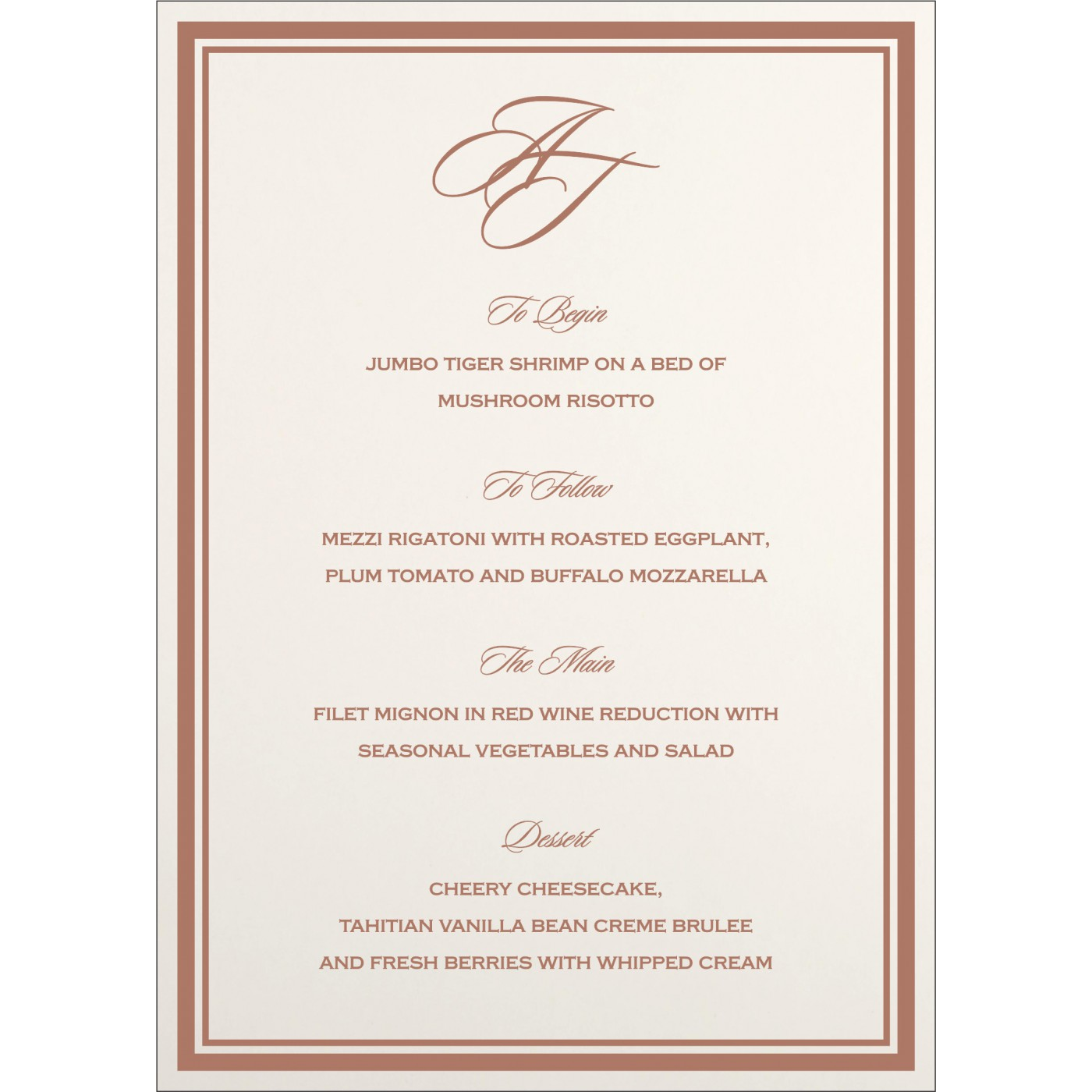Menu Cards : MENU-8203G - 123WeddingCards