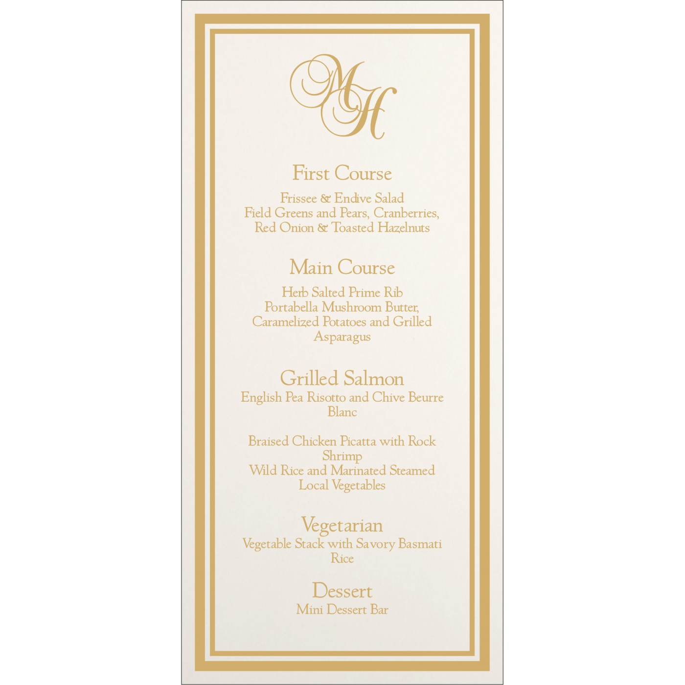 Menu Cards : MENU-8203H - 123WeddingCards