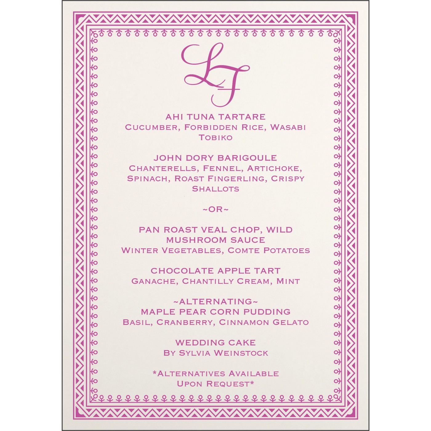 Menu Cards : MENU-8205A - 123WeddingCards