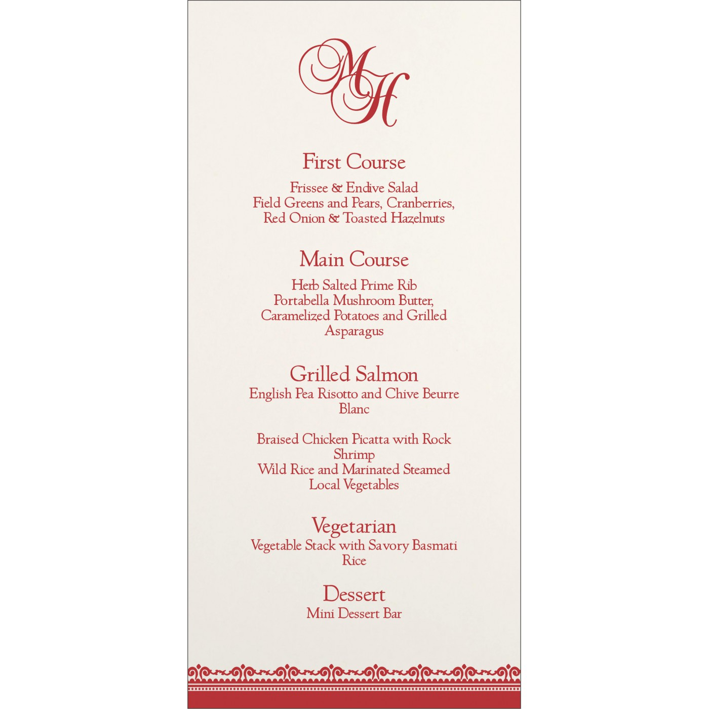 Menu Cards : MENU-8205J - 123WeddingCards