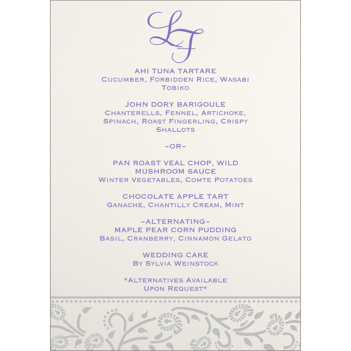 Menu Cards : MENU-8206A - 123WeddingCards