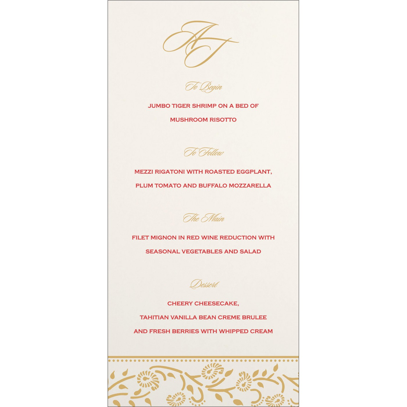 Menu Cards : MENU-8206C - 123WeddingCards