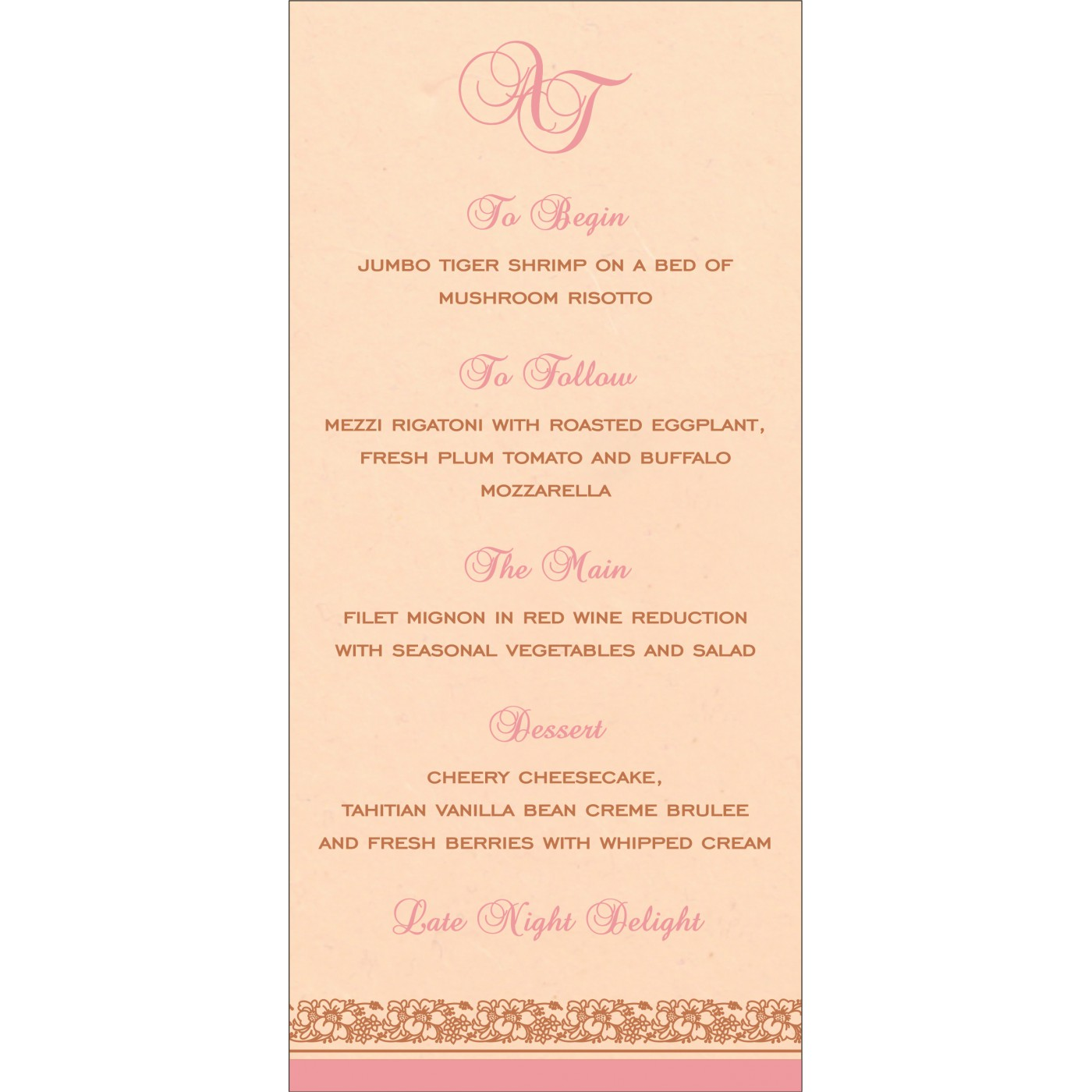 Menu Cards : MENU-8207C - 123WeddingCards