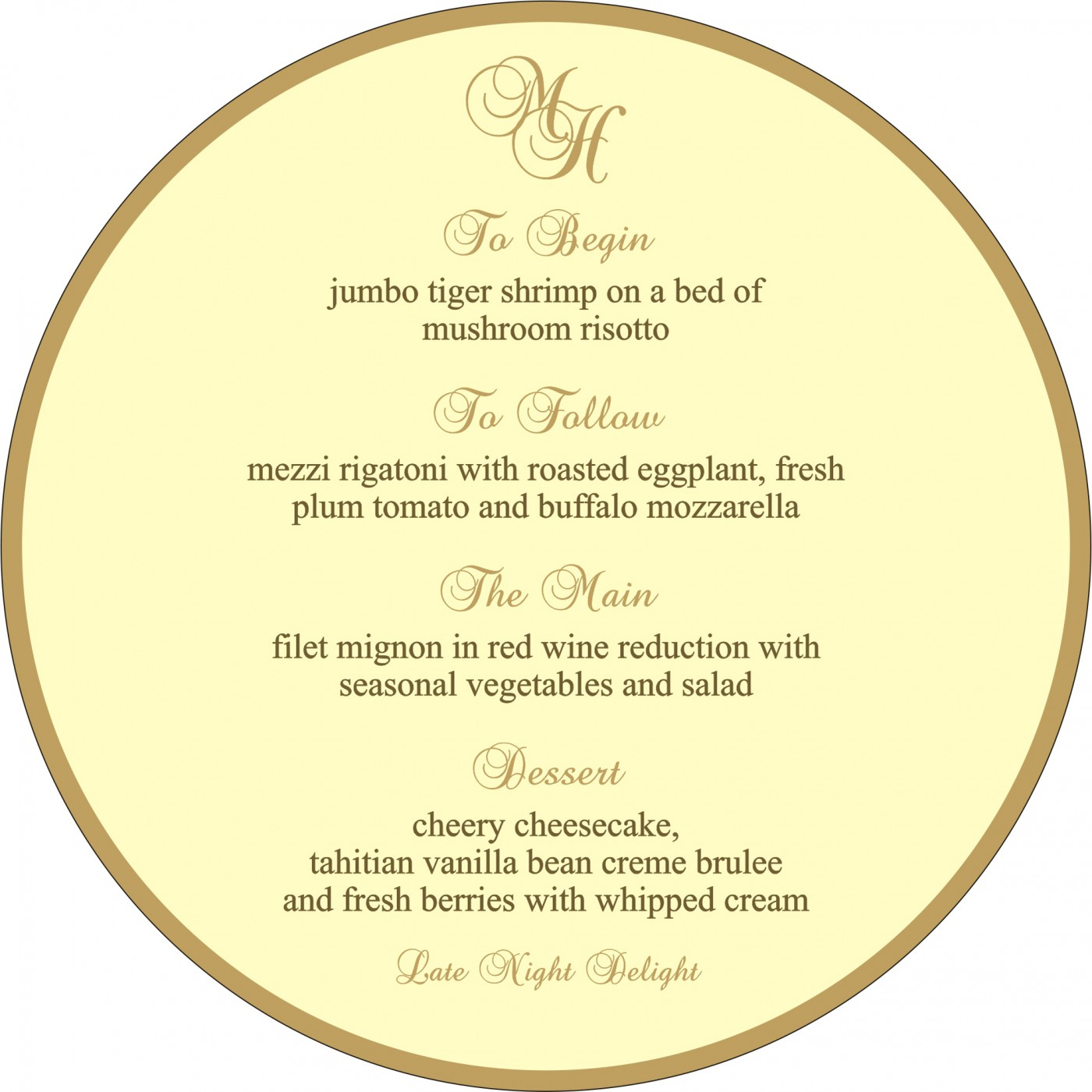 Menu Cards : MENU-8207H - 123WeddingCards