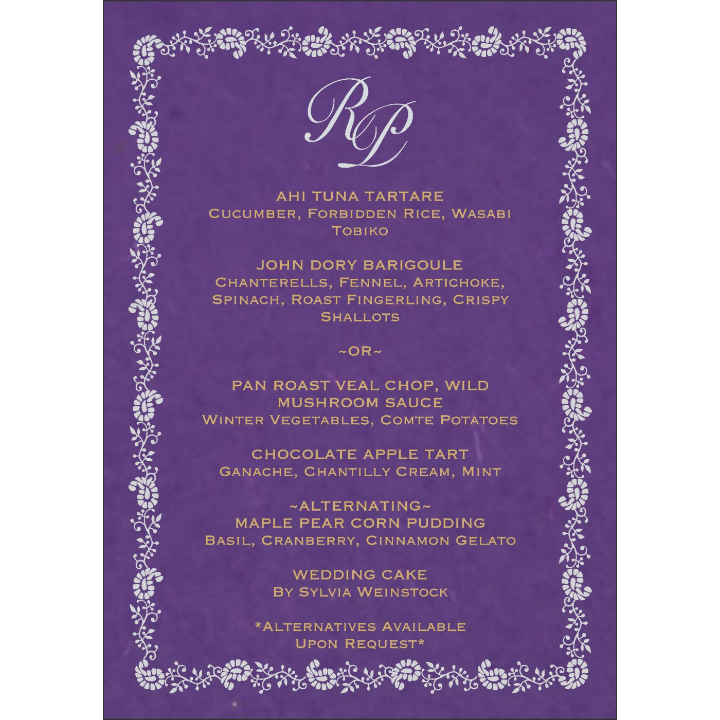 Menu Cards : MENU-8208D - 123WeddingCards