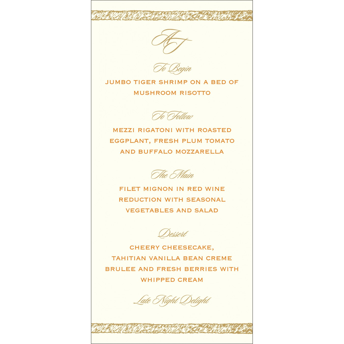 Menu Cards : MENU-8209M - 123WeddingCards