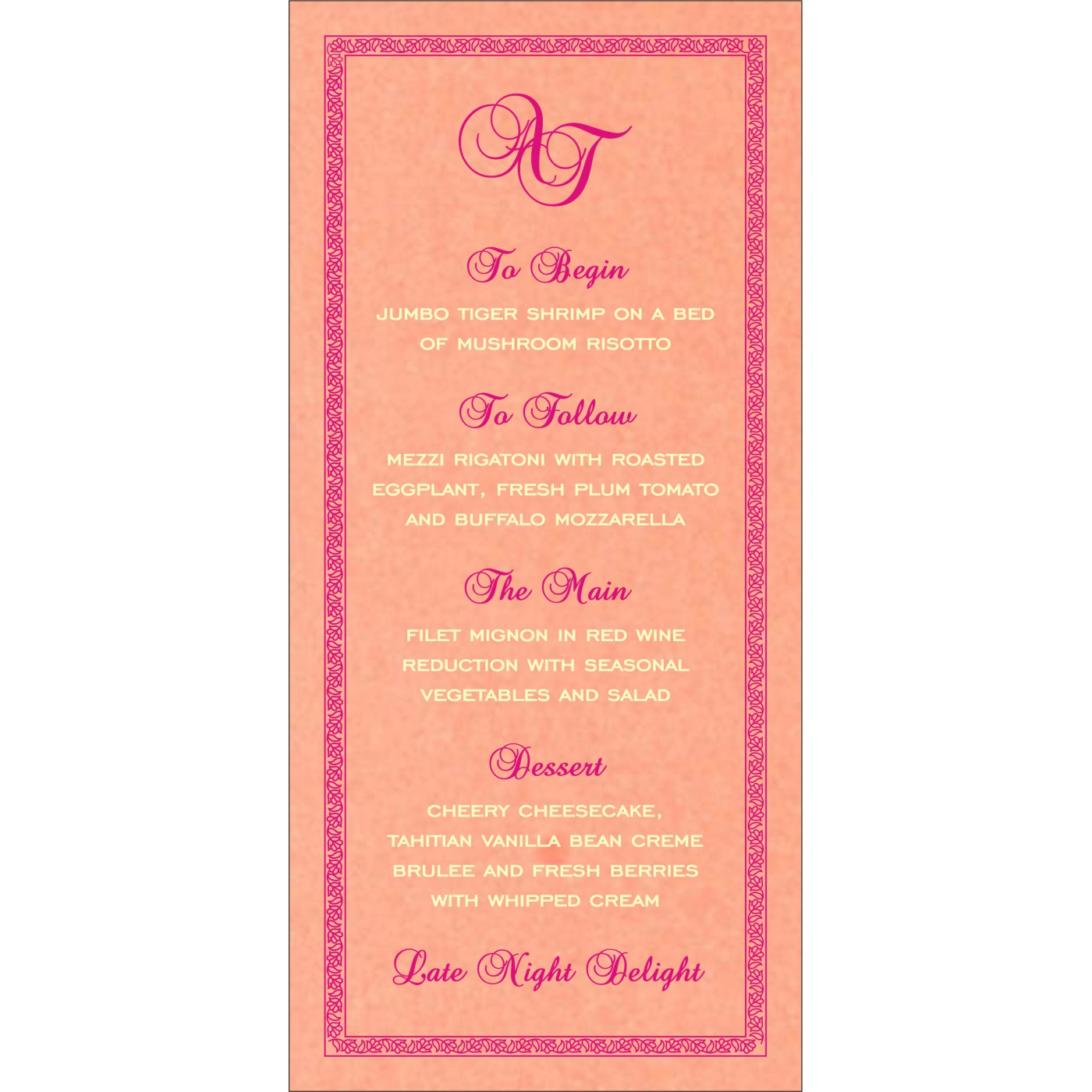 Menu Cards : MENU-8211D - 123WeddingCards