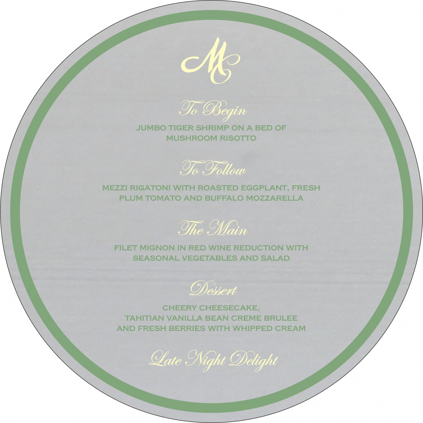 Menu Cards : MENU-8214P - 123WeddingCards