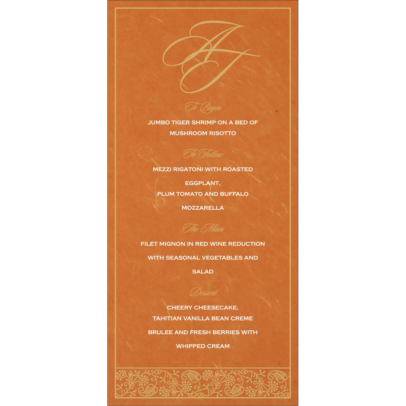Menu Cards : MENU-8215L - 123WeddingCards