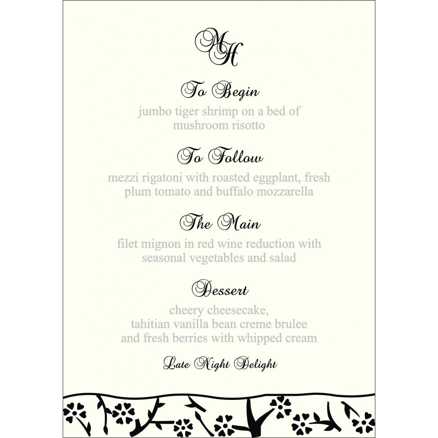 Menu Cards : MENU-8216N - 123WeddingCards