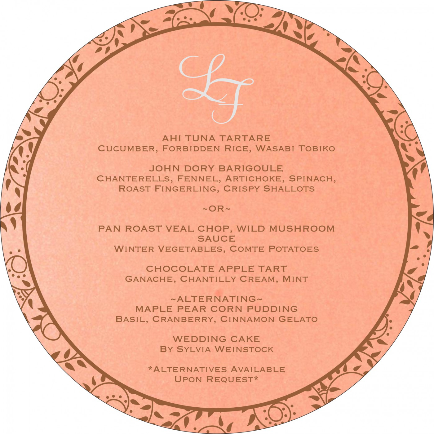 Menu Cards : MENU-8217N - 123WeddingCards