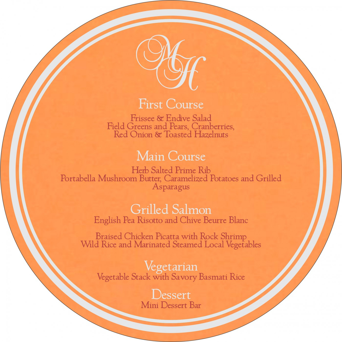 Menu Cards : MENU-8220F - 123WeddingCards