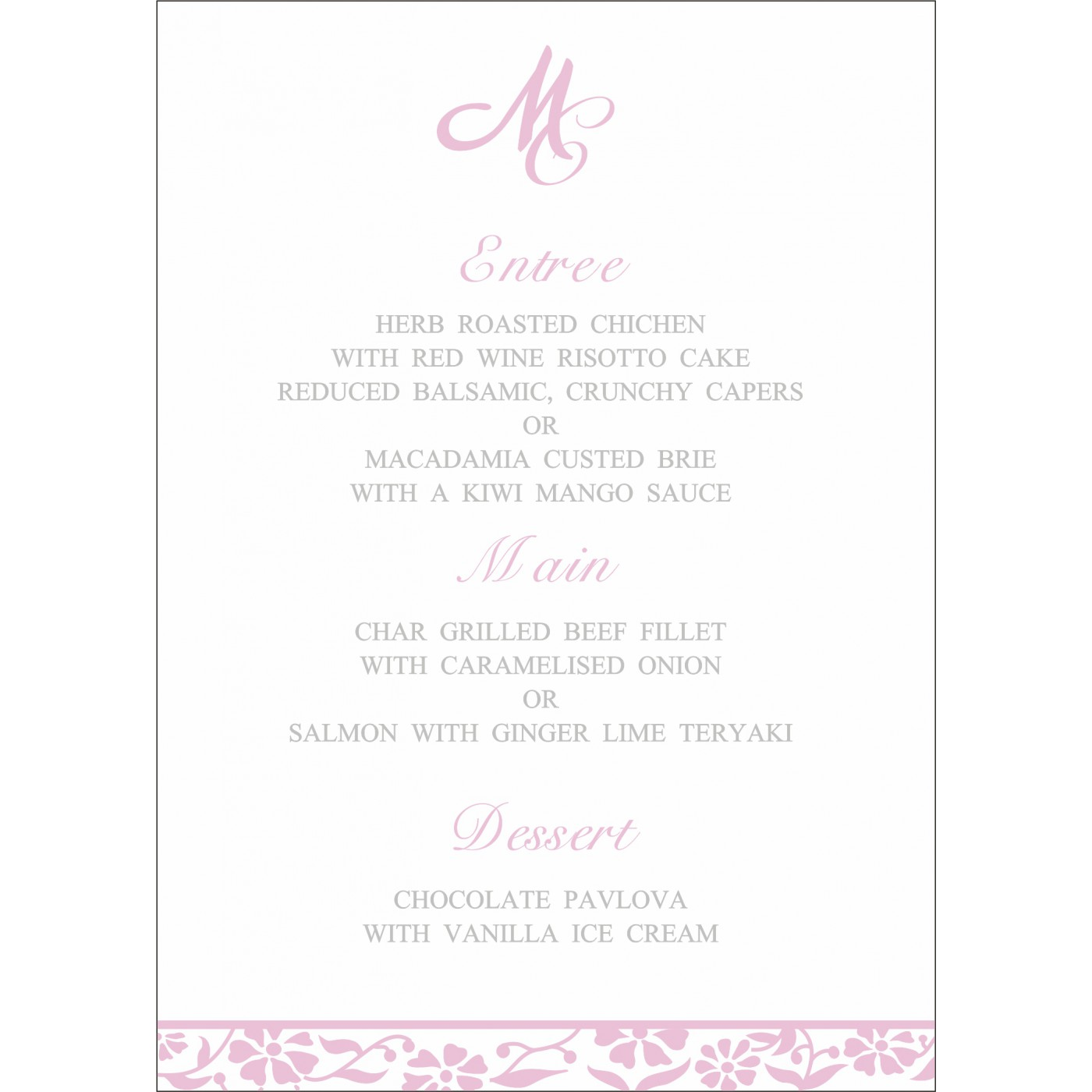 Menu Cards : MENU-8222N - 123WeddingCards