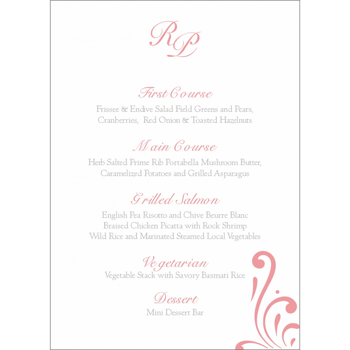 Menu Cards : MENU-8223E - 123WeddingCards