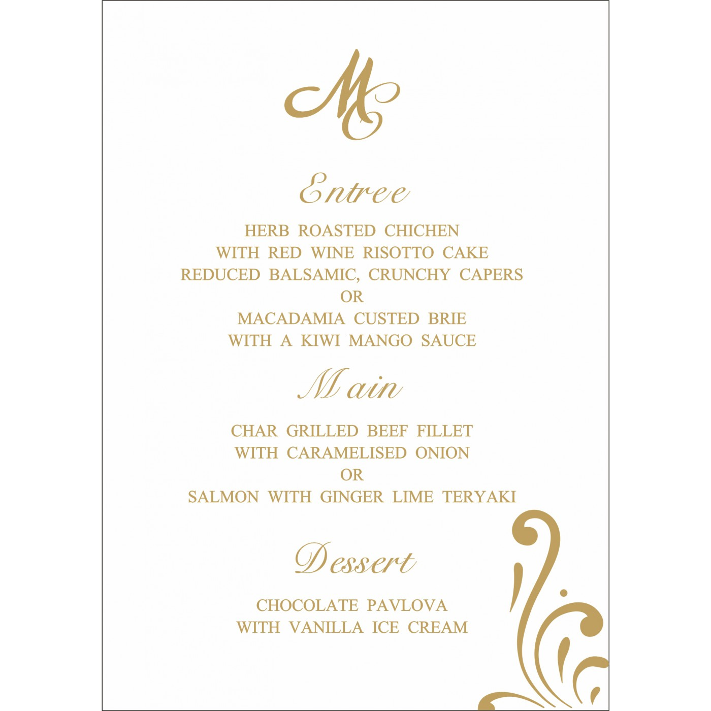 Menu Cards : MENU-8223L - 123WeddingCards