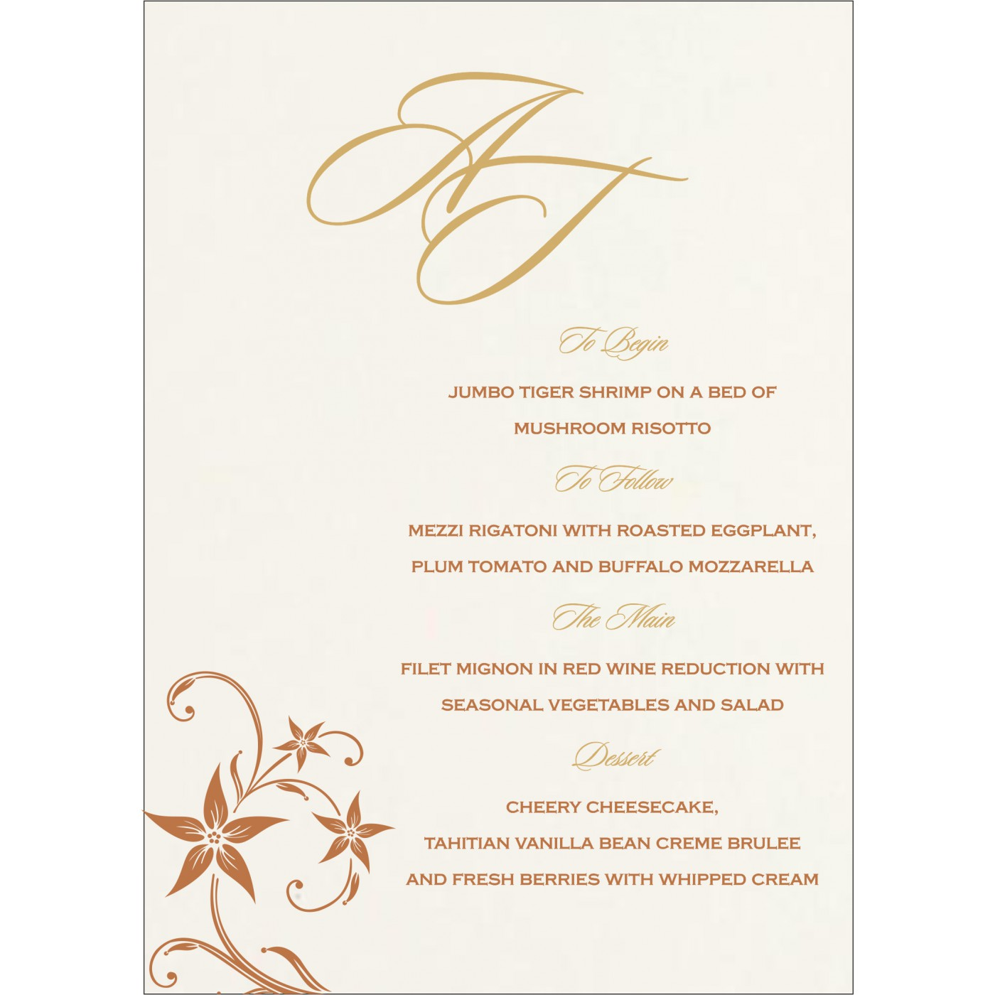 Menu Cards : MENU-8225J - 123WeddingCards