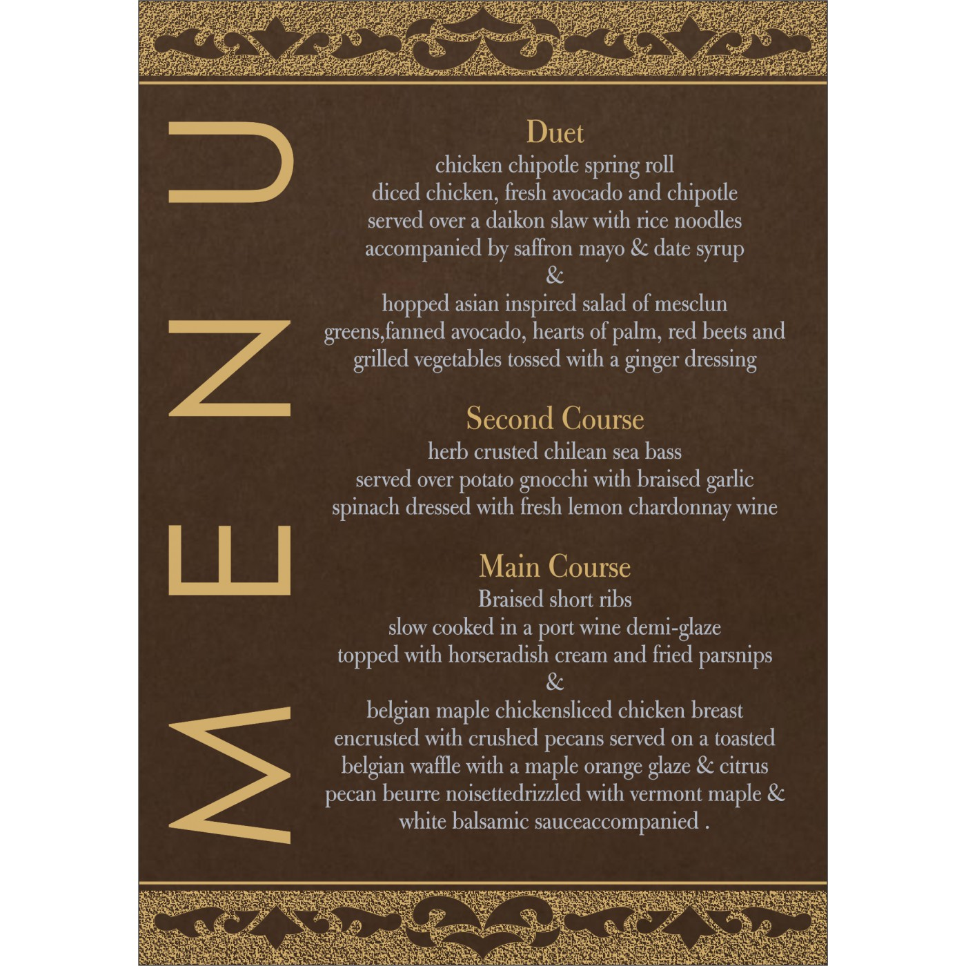 Menu Cards : MENU-8227P - 123WeddingCards