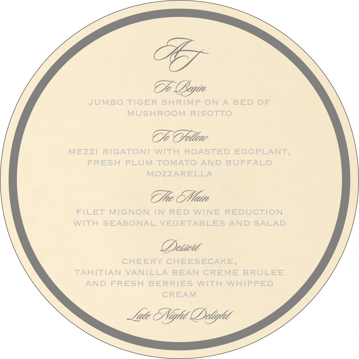 Menu Cards : MENU-8229B - 123WeddingCards