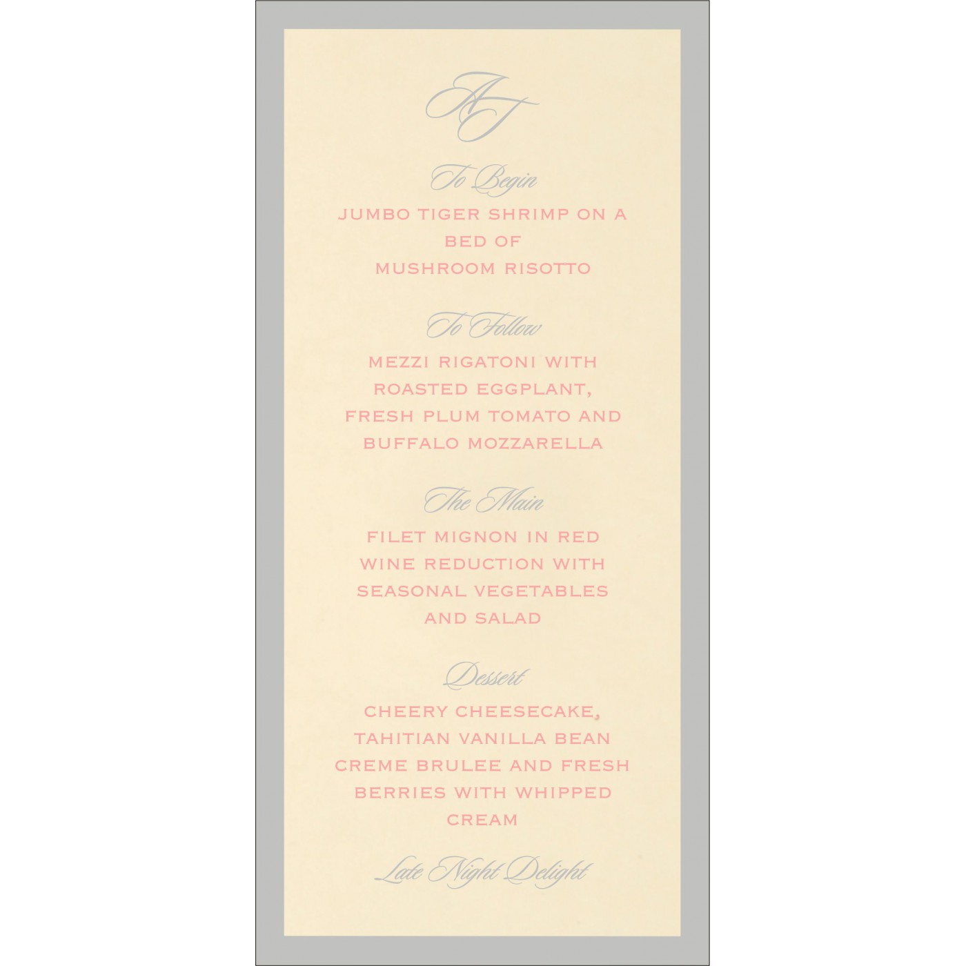 Menu Cards : MENU-8229Q - 123WeddingCards