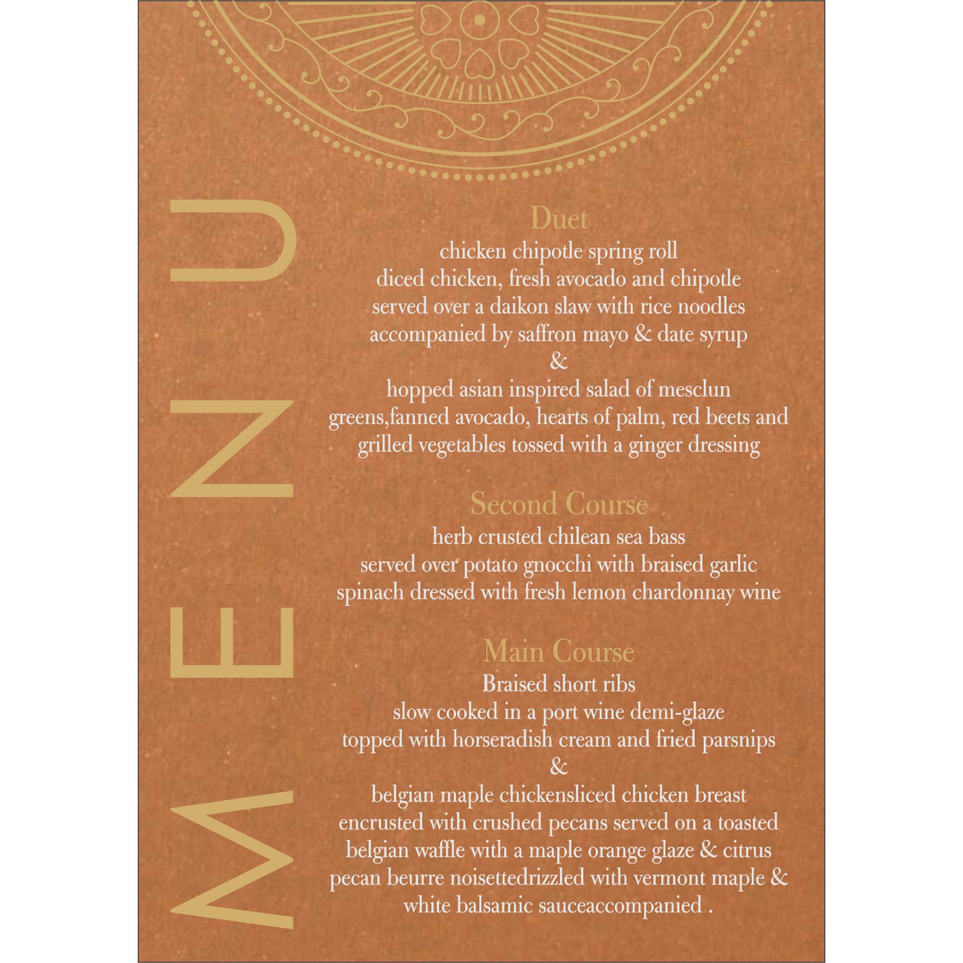 Menu Cards : MENU-8230Q - 123WeddingCards