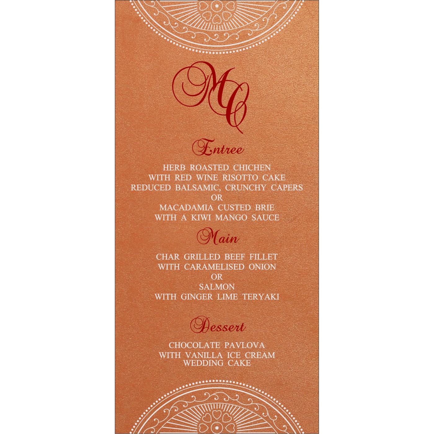 Menu Cards : MENU-8230T - 123WeddingCards