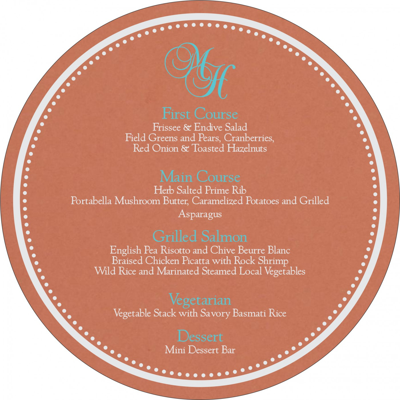 Menu Cards : MENU-8231E - 123WeddingCards