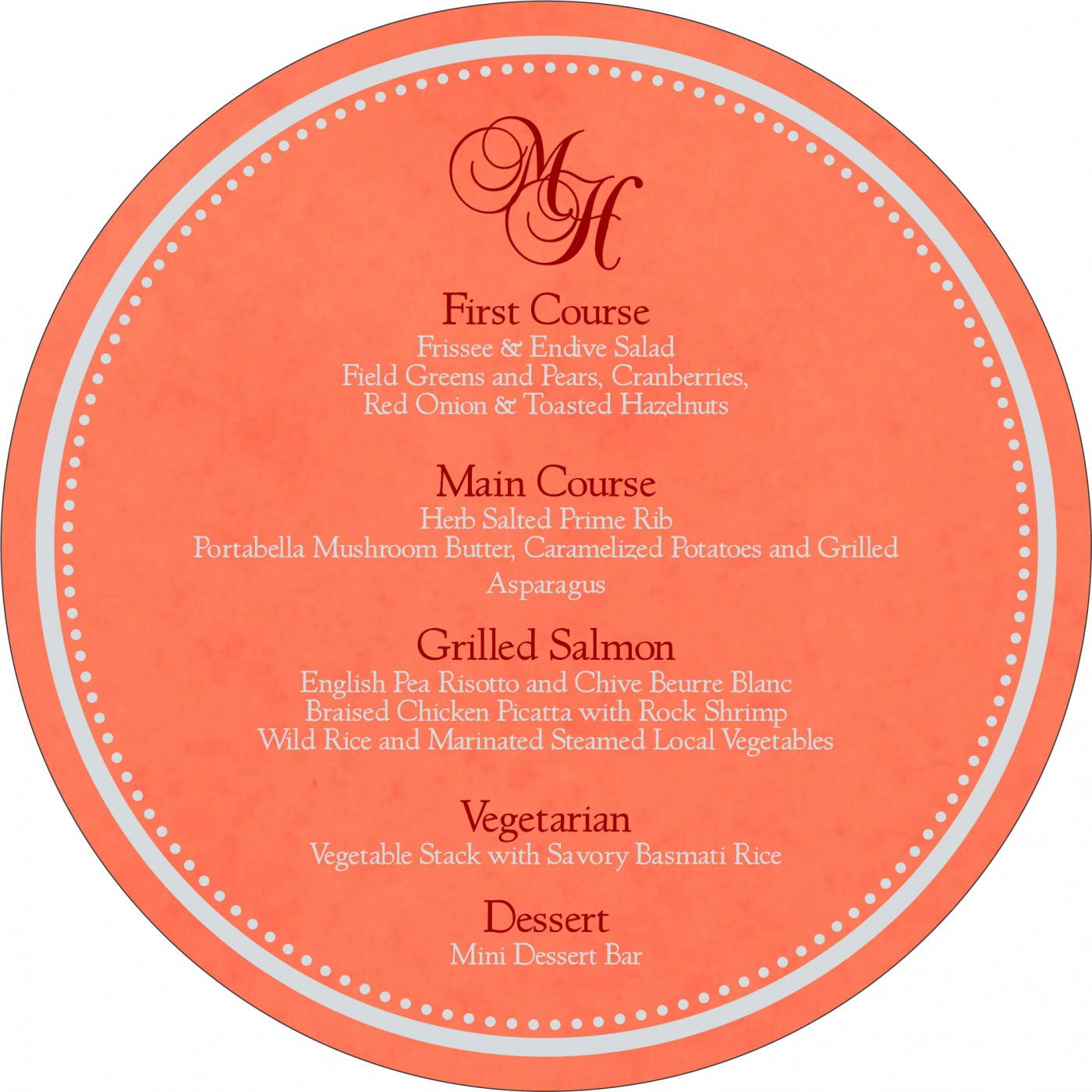 Menu Cards : MENU-8231M - 123WeddingCards