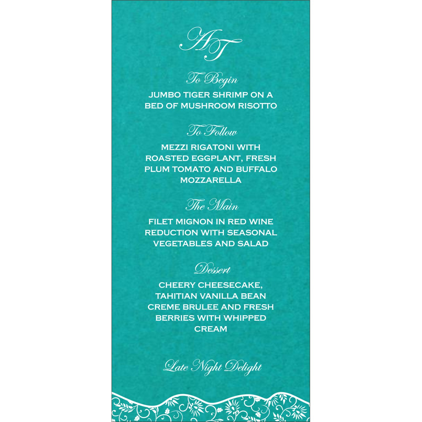 Menu Cards : MENU-8236J - 123WeddingCards