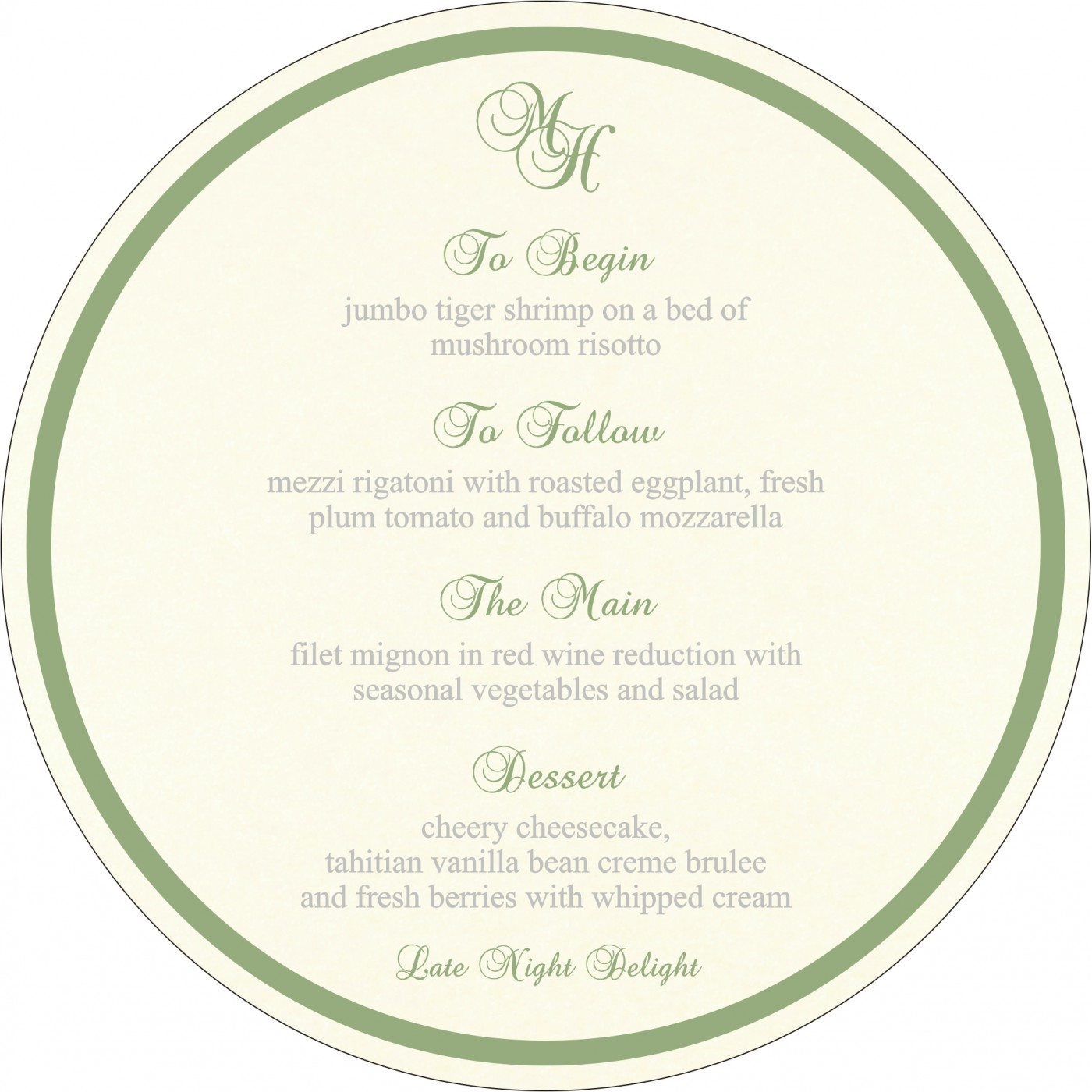 Menu Cards : MENU-8242K - 123WeddingCards