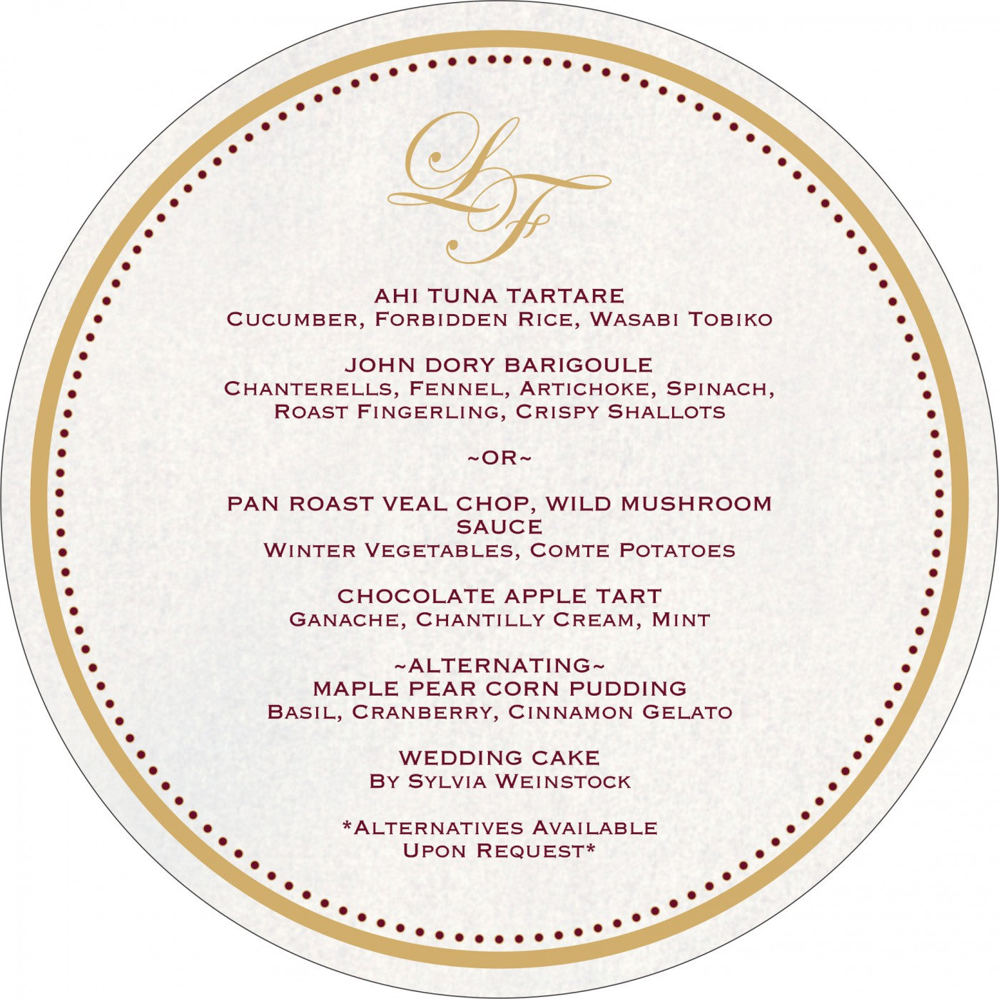 Menu Cards : MENU-8244G - 123WeddingCards