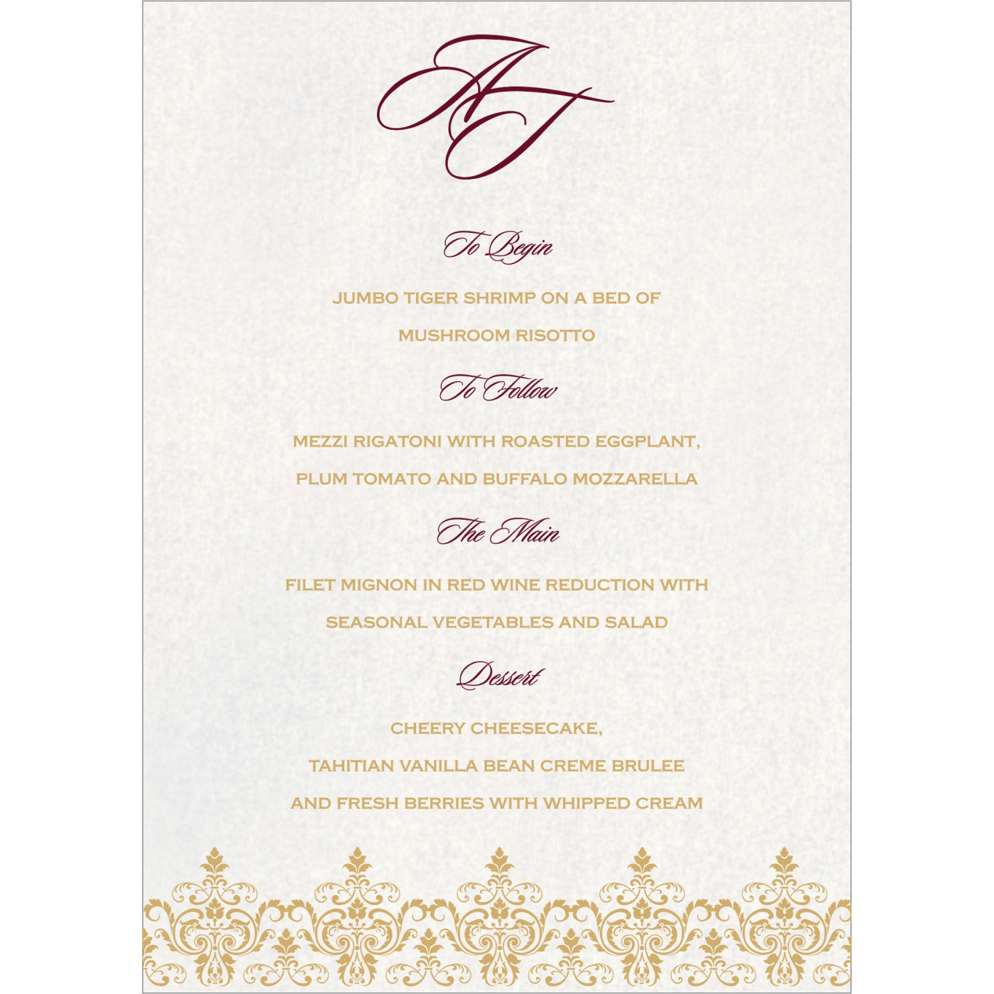 Menu Cards : MENU-8244H - 123WeddingCards