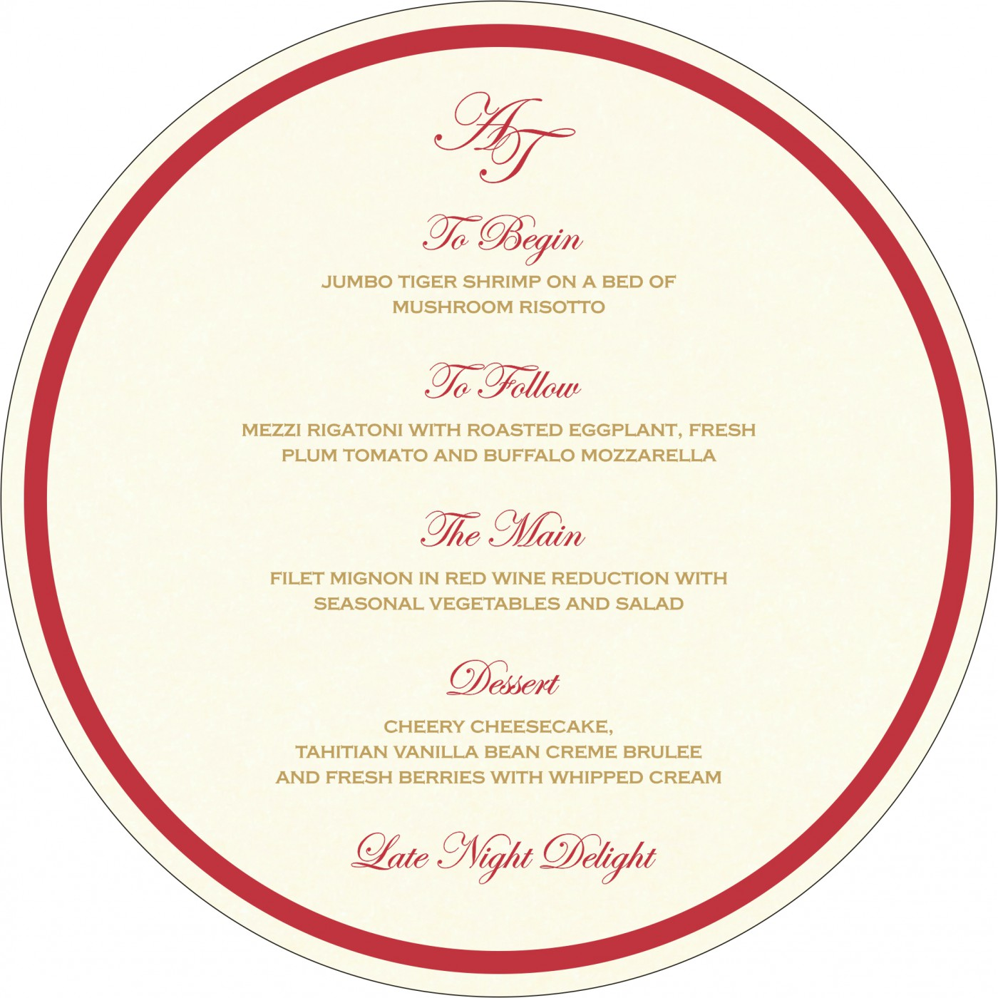 Menu Cards : MENU-8249L - 123WeddingCards