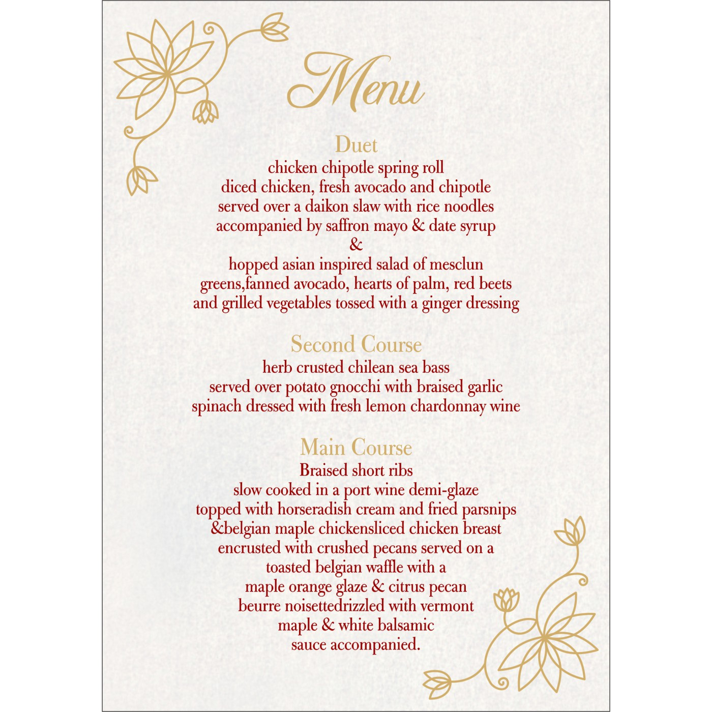 Menu Cards : MENU-8251L - 123WeddingCards