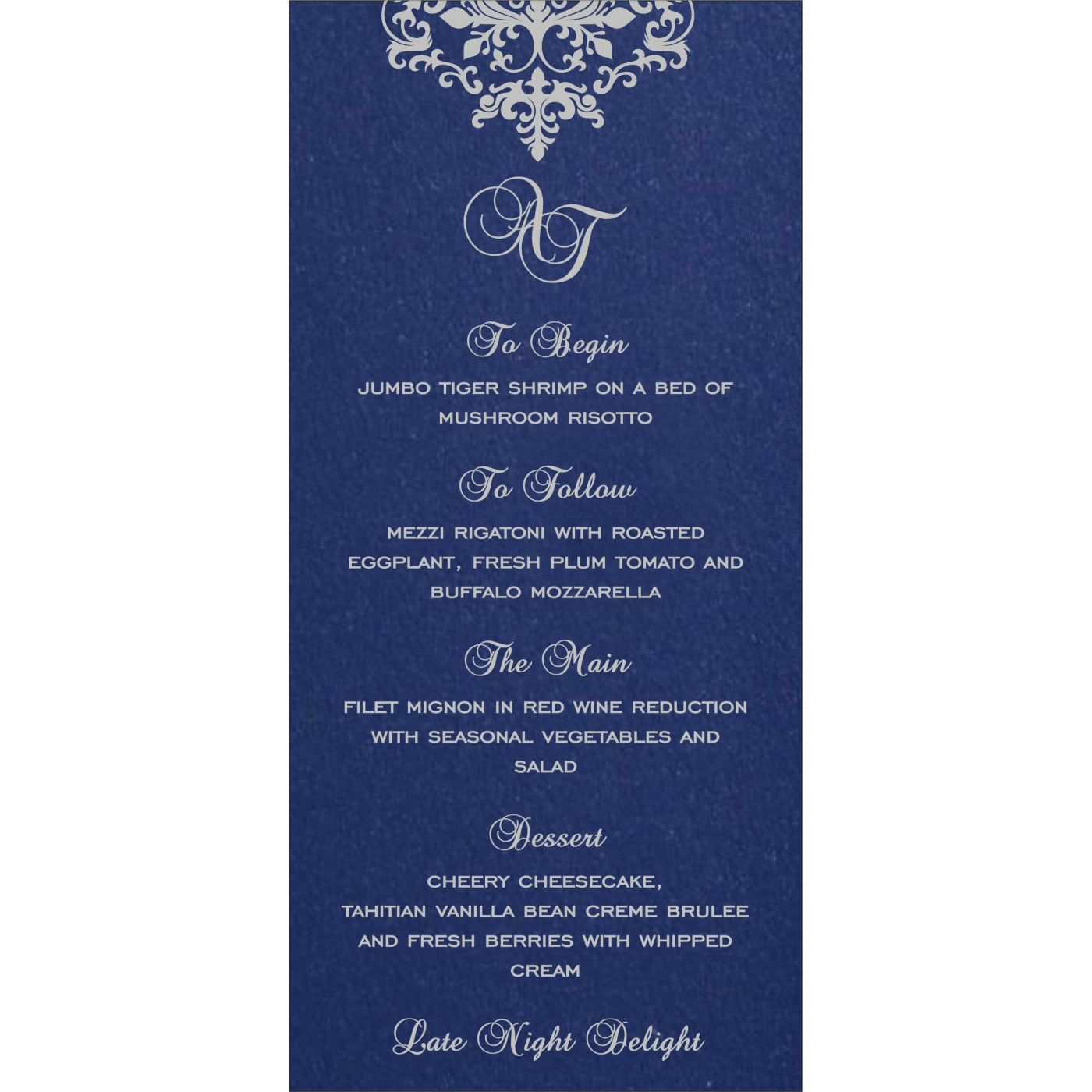 Menu Cards : MENU-8254C - 123WeddingCards
