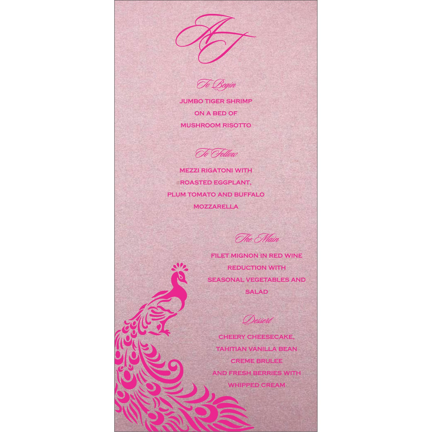 Menu Cards : MENU-8255F - 123WeddingCards