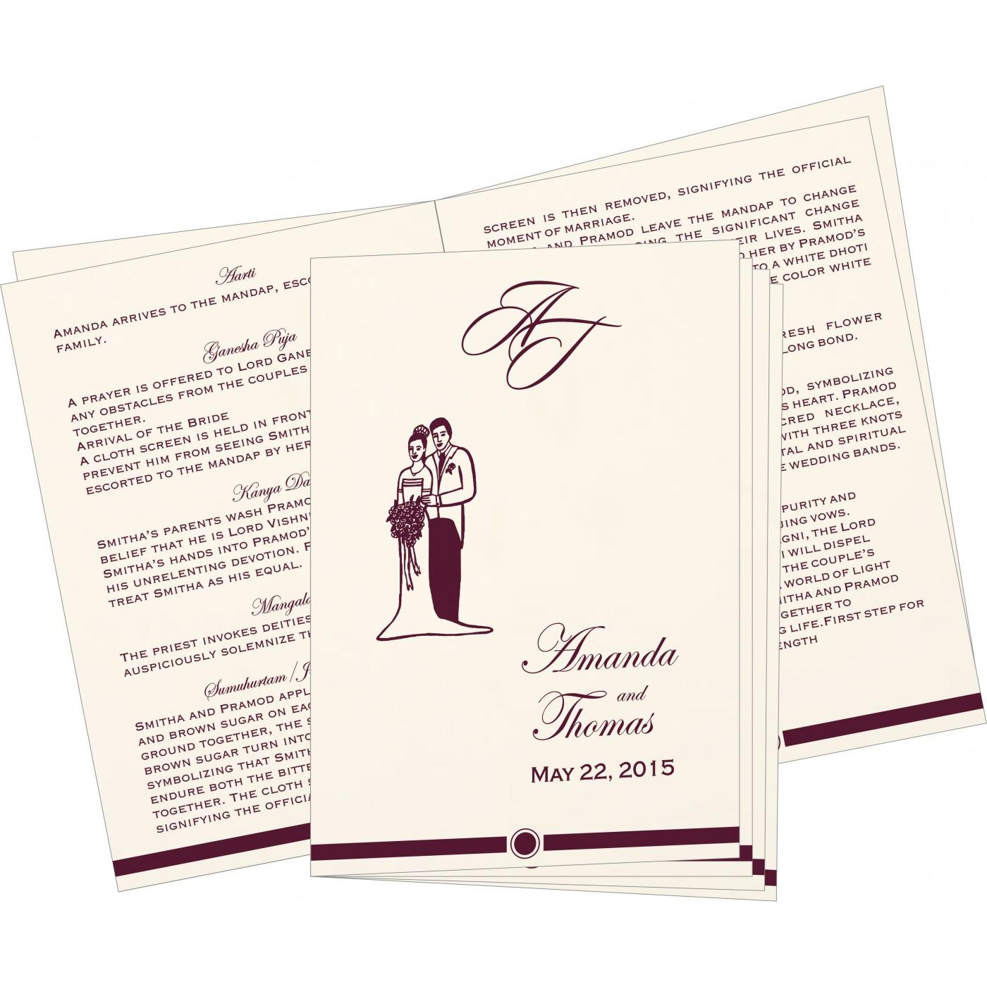 Program Booklets : PC-1204 - 123WeddingCards