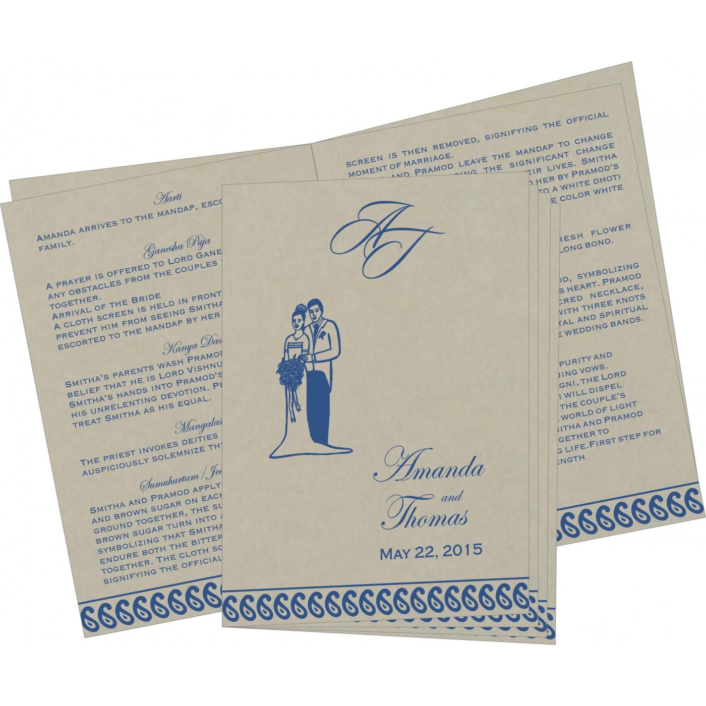 Program Booklets : PC-1261 - 123WeddingCards