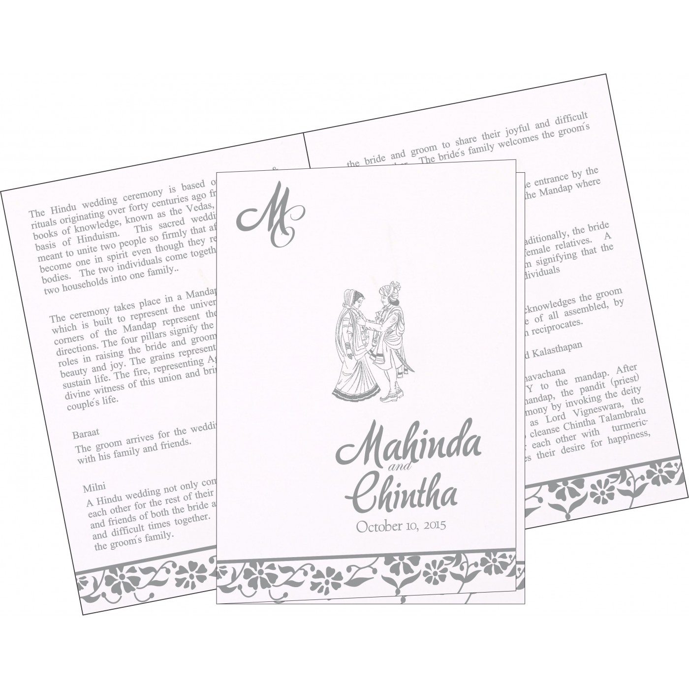 Program Booklets : PC-1291 - 123WeddingCards